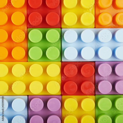 Surface covered with toy bricks © Dmitri Stalnuhhin