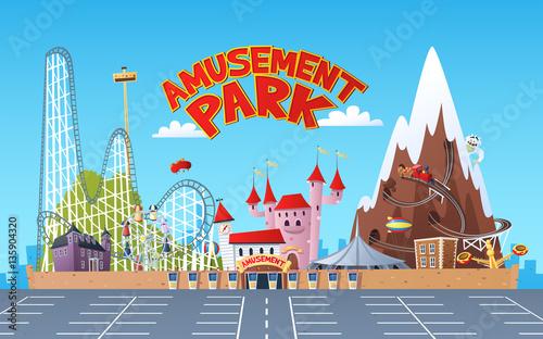 Tuinposter Amusementspark Amusement Park