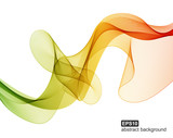 Abstract colorful wave background. Vector illustration.