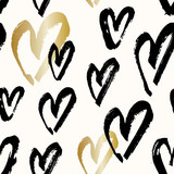 Hand Painted Hearts Pattern - 135911905
