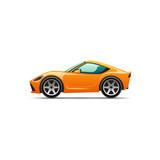 Vector cartoon sport car