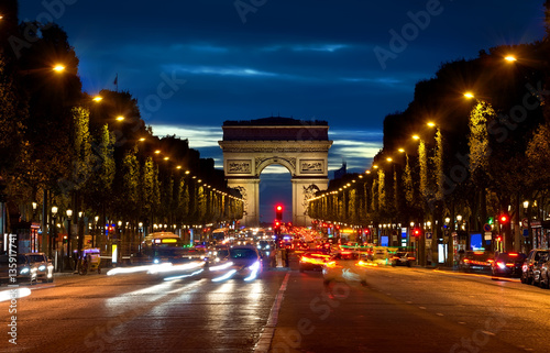 Arc de Triompthe in evening Photo by Givaga