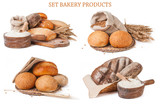 Set bakery products isolated - 135918126