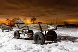 Farm wagon in evening