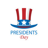 Presidents day minimalist poster. Vector illustration