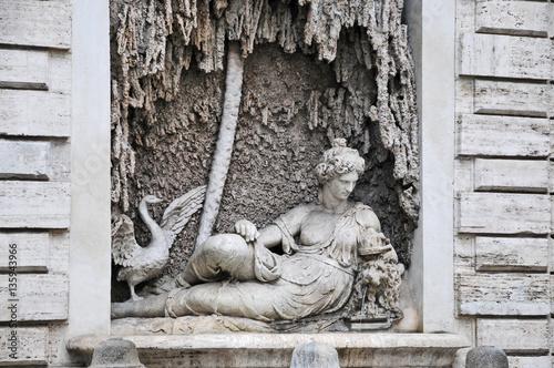 Rzym, przejście czterech Fontann: Giunone