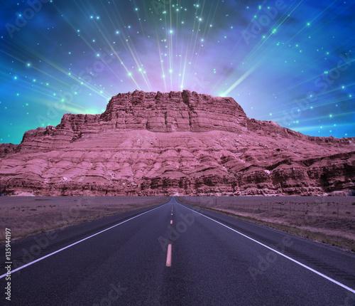 Foto op Plexiglas Draken Road to Mountain