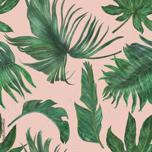 akwarela-maluje-bezszwowego-wzor-z-bananami-i-palma-liscmi