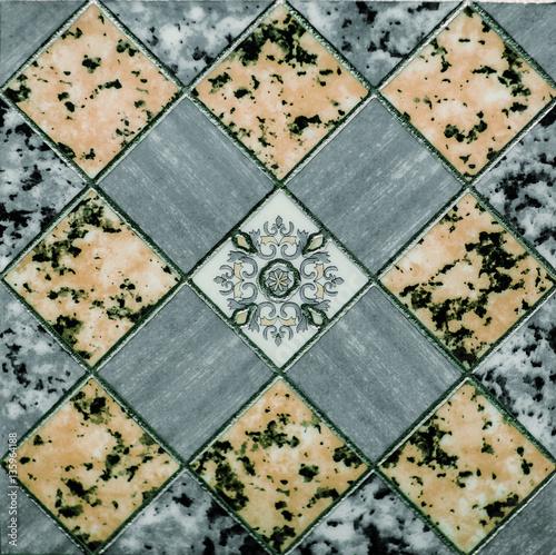 Fototapeta classic tile, green abstract pattern