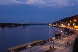 bridge kiev night lights
