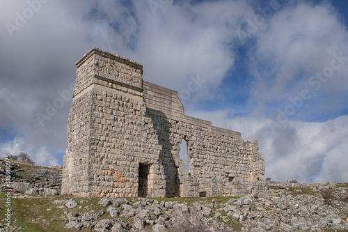 Poster antiguo teatro de la ciudad romana de Acinipo situada en Ronda provincia de Mála