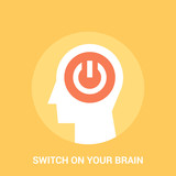 switch on your brain icon concept
