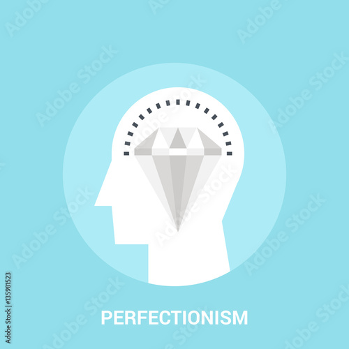 perfectionism icon concept © vasabii