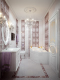 Luxurious bathroom in classic style