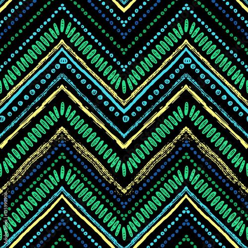 Materiał do szycia Paski jasny tribal wzór z zigzag