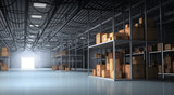 Warehouse and Boxes - 136003350
