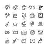 Fototapety Culture and Creative Fine Art Icons Set. Vector