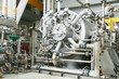 Machine turbine in oil and gas plant for drive compressor unit for operation. Turbine working with long time and controlled logic by automation system, machine stand by for maintenance routine job.
