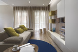 interior view of a modern living room - 136011127