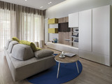 interior view of a modern living room - 136011162