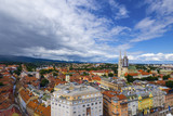 birds-eye view of Zagreb, Croatia.