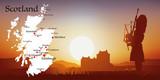 Ecosse - Tourisme - Carte - Coucher de soleil - 136016135