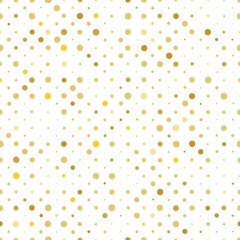 seamless pattern with gold dots randomly