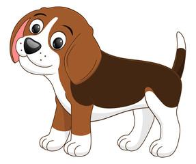 Cartoon puppy standing