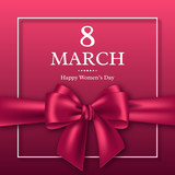 March 8 greeting card for International Womans Day.