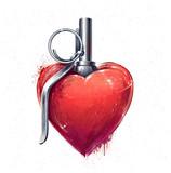 Heart Grenade Art