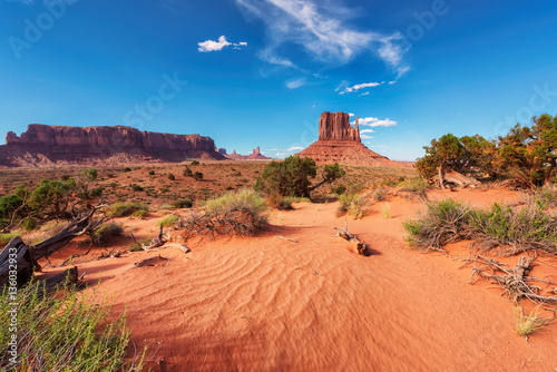 Deurstickers Koraal Monument Valley, Arizona, United States.