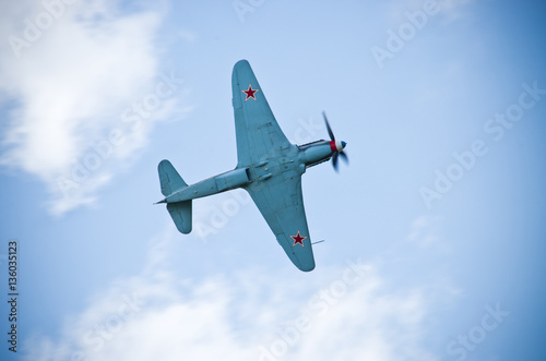 Poster Russian fighter from world war 2 time
