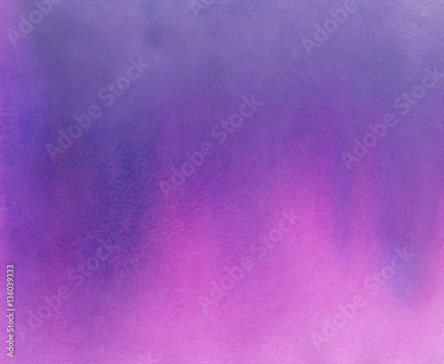 mata magnetyczna Hand Painted Watercolor Background - Violet and Pink Ombre Gradient