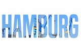 Hamburg word - text silhouette