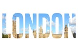 London - text silhouette