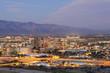 The Tucson city center at dusk