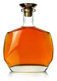 Bottle of whiskey on a white background