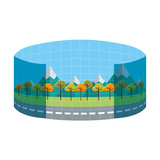 augmented reality perspective icon vector illustration design