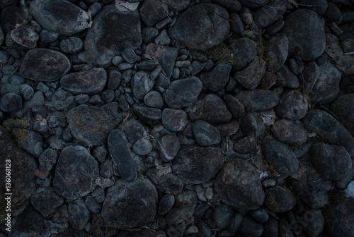 River stones background beautiful winter