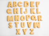 Fototapety Cookie alphabet on white background