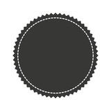 circle seal stamp icon vector illustration design - 136072348