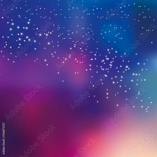 Tuinposter Snoeien night sky stars concept vector illustration for background. simp