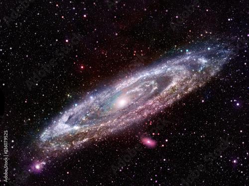Fototapeta Glowing spiral galaxy.