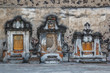 Burials on the outer facade of the Catholic church in Cholula, M