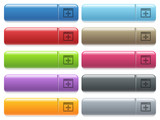 Move window icons on color glossy, rectangular menu button