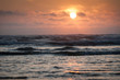Sunset over Pacific ocean at Cape Lookout,