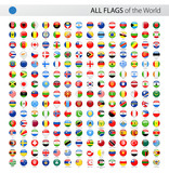 All World Round Glossy Vector Flags - Collection - 136102167