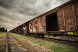 Old rusty train. Ukraine, Kherson