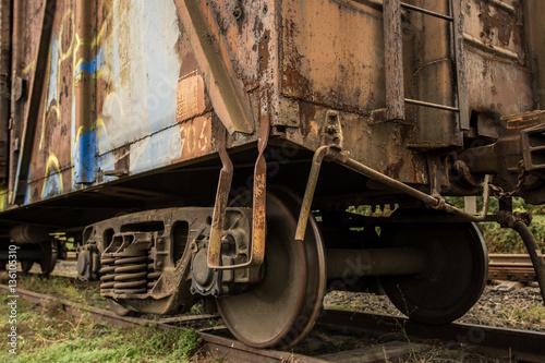 Poster Chicago Old rusty train. Ukraine, Kherson