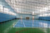 Interior of a sport hall for soccer or handball - 136109984